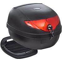 vidaXL Maleta Baúl para Motos Motocicleta Accesorios Equipaje para 1 Casco 36 L Negro