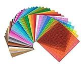 """Strictly Briks Premium-Set mit stapelbaren Bauplatten - Kompatibel mit Allen Großen Marken - Verschiedene Farben - 10"""" x 10"""" (25,4 x 25,4 cm) - 36 Stück"""