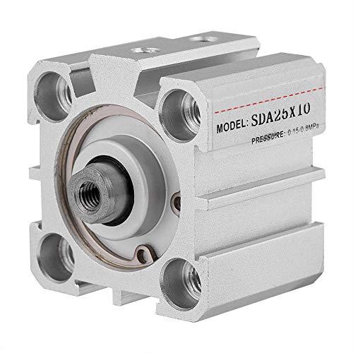 Cilindro de aire, SDA25-10 25mm Diámetro 10mm Carrera Herramienta neu