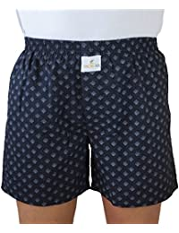 SKOR NX Men Premium Cotton Printed Black With Dots Print Boxer Shorts With 1 Back Pocket, Concealed Button Double-fly...