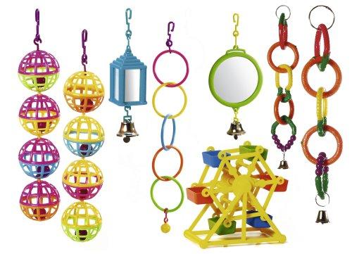 KARLIE Spielzeug BÄLLE, LATERNE, RINGE Kunststoff für Vögel