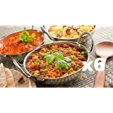 SET OF 6 STAINLESS STEEL 17CM BALTI DISHES - INDIAN SERVING DISHES - CURRY NIGHT - Fast Dispatch by Prima