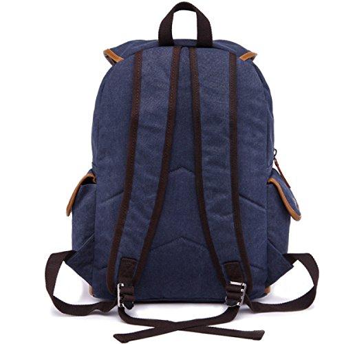 Rucksack Large-Cap Canvas Tasche Student Sporttasche Black