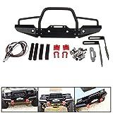 KINGDUO 1/10 Rc Crawler Auto Aluminium Frontstoßstange W/Winch Mount LED Für Traxxas TRX-4 Rc Auto Teile