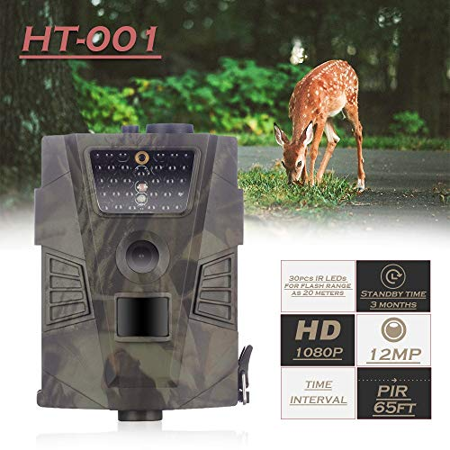 MC.PIG Wildkamera Jagdkamera 1080P Tag und Nacht Infrarot-Sensor Wasserdichte und staubdichte Jagd-Spielkamera für Wildlife-Jagd/Überwachung
