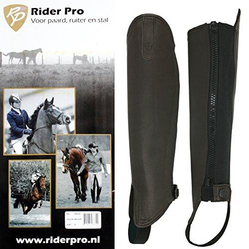 Rider Pro Half Chap Leder BIANCA Gaither braun Chaps Stiefelschaft Schaft (L)