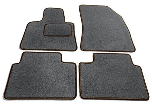 JediMats 27046-Kor-Dunkelbr-Schi Korfu Maßgeschneiderte Fußmatte für Ihr Auto, Schiefer -