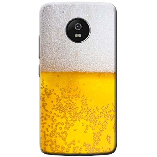 Nahaufnahme schaumiges Bier weiße Krone Hartschalenhülle Telefonhülle zum Aufstecken für Motorola Moto G5