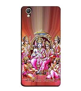 Fuson Designer Back Case Cover for Oppo A37 (Sri Ram Darbar theme)