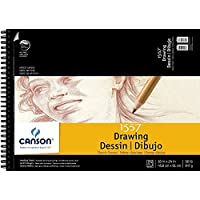 "CANSON Artist Series Cream Drawing Pad 18"" x 24"", Top Wire Bound, 24 Sheets (100510976)"