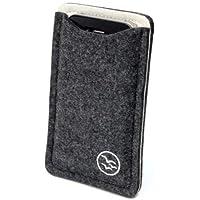Waterkant Deichkönig Wollfilz-Tasche für Apple iPhone 4/4S grau/weiß
