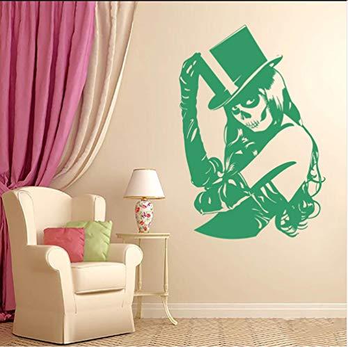 (Myvovo Grüne Schädel Zucker Mädchen Zombie Pvc Wand Vinyl Aufkleber Wohnzimmer Wandtattoos Kunst Wohnkultur Tapete Wandbild 57 * 80 Cm)