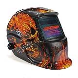 LEXPON Automatik Schweißhelm Solar Welding Helmet Schweißmaske Schweißschirm Schweißschild (Skull Schwarz)