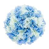 Nuptio Grand Fleurs Artificielles Exterieur avec Arrangement de Fleurs, 51 Têtes en Plastique avec Base, Convient aux Piliers de Colonne Romaine pour Jardinière D'urne pour Les Fêtes Mariage