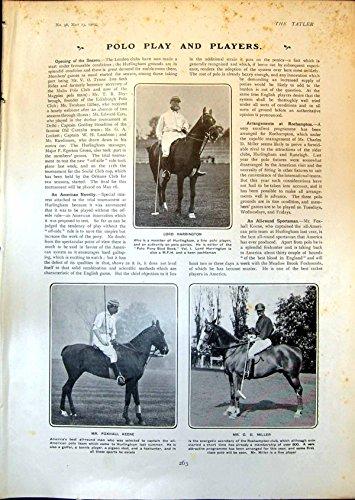 Stampa Antica di Consumo Di Combustibile W Graburn1903 di Signore Harrington Foxhall Keene Cricket C di Polo