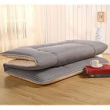 Respirable 4 d Mesh Dormir Futón Estera de meditación, Plegable Tatami Primeros del colchón Cubierta