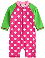 [Free Shipping]Vaenait Baby 0-24M Infant Girls Longsleeves One piece Swimsuit Baby Cream Dot Pink S