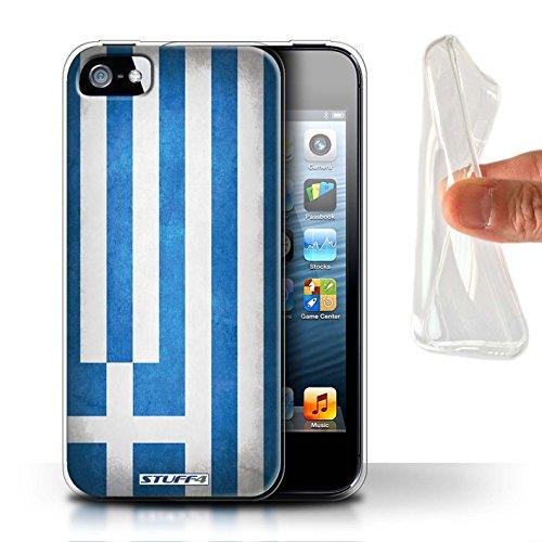 Stuff4® Gel TPU Hülle/Case für Apple iPhone 5/5S / Griechenland/Griechisch Muster/Flagge Kollektion