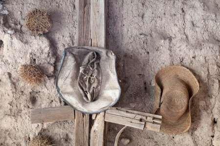 feelingathome-stampa-artistica-x-cornice-messico-mineral-de-pozos-vecchi-cappelli-appendere-a-parete