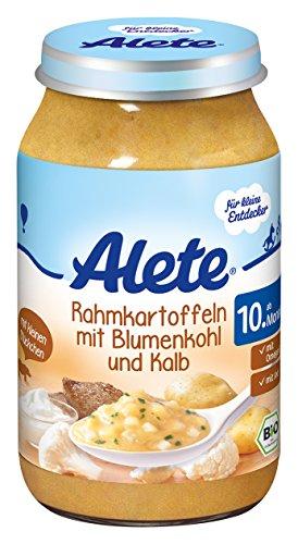 Alete Rahmkartoffeln mit Blumenkohl und Kalb, 6er Pack (6 x 220 g)