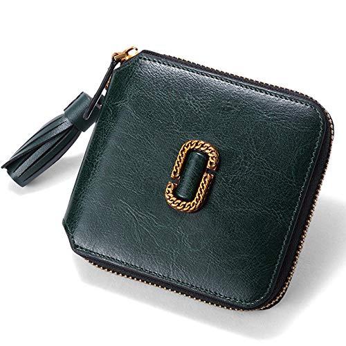 FENGLI Nouveau sac à main en cuir de couleur unie pour dames, petit sac à main vert foncé