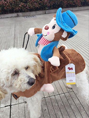 Affen Reiten Kostüm Ein Hunde - outflower blau Affe Reiten Hund Katze Puppy Halloween-Kostüm Up Party Kleid Apparel Haustier Kleidung L M