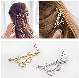 Qtmy 2pcs en métal Branches Pique à cheveux Pinces à cheveux Accessoires Cheveux