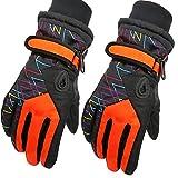 Kinder Skifahren Handschuhe Skihandschuhe Kinder Schnee Handschuhe Outdoor Handschuhe Sport Handschuhe Winter Handschuhe,Rot