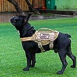 OneTigris MOLLE Taktisches Welpengeschirr Einstellbar Weich Geschirr für Kleine Hunde Welpen Wandern/Walking Outdoor-Aktivitäten (Coyote Braun)