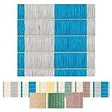 Bestlivings Sichtschutz - Abdeckung für Balkon, Carport, Zaun Auswahl: 90 x 300 cm Blau - Grau