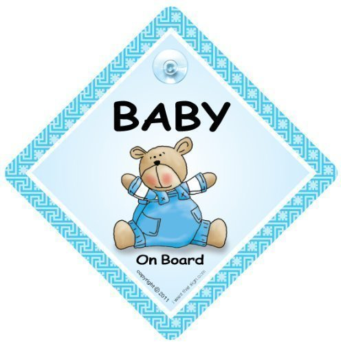 Personnalisé enfant//bébé à bord voiture signe ~ mummys prince on board ~ l bleu