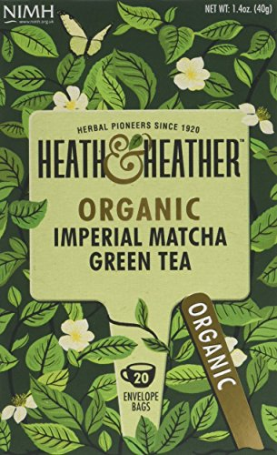 A photograph of Heath & Heather organic green tea