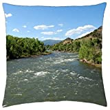 Durango River, Colorado - Throw Pillow Cover Case (18
