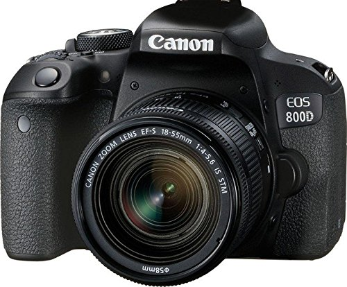 Canon EOS 800D Fotocamera Digitale, Obiettivo EF-S 18-55 mm f/4-5.6 IS STM,...