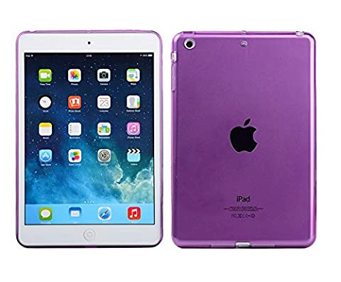 Clear Transparent Crystal Soft Silicone Rubber Back Gel TPU Case Skin Cover for IPad Mini 1 2 3 7.9 Inch (Purple)