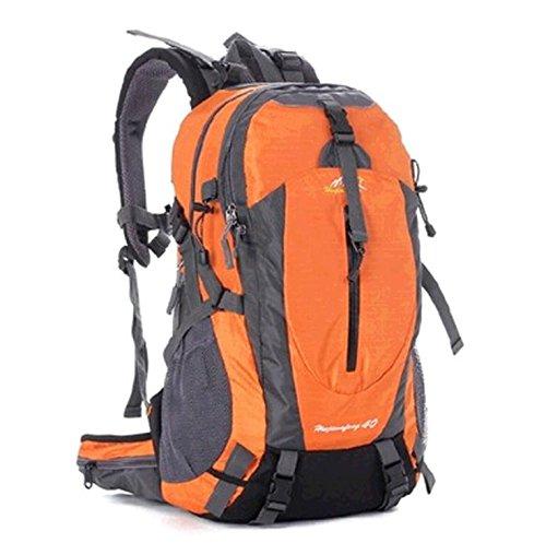 YYY-Moda sport zaino 30L alpinismo professionale grande capacità multi-funzionale all'aperto borsa a tracolla 19 * 27 * 49cm , red Orange