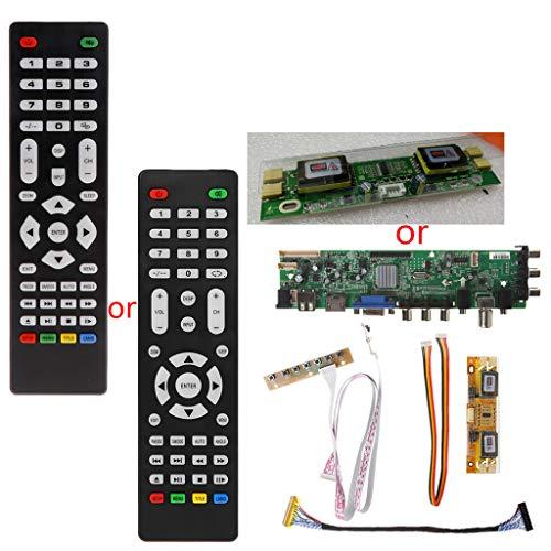 FXCO Treiber TV LCD V56 V59 DVB-T2 + 7 Schalter mit Schlüssel + IR Umschalter + 4 Lampen + Kit LVDS 3663 Lvds Lcd-panels