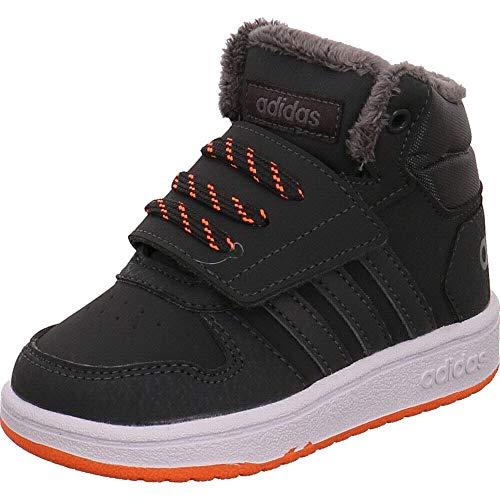 1aef2988eaea4 adidas Hoops Mid 2.0 I, Chaussures de Fitness Mixte Enfant, Gris  (Carbon/Gricin/Naalre 0), 25 EU