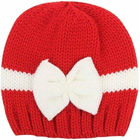 DAYAN Carino invernali ragazze bambino neonate cappelli di lana caldi Caps sciarpa cappuccio Coif