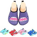 Badeschuhe Wasserschuhe Strandschuhe Mädchen Jungen Schwimmschuhe Barfußschuhe Surfschuhe Kinder Baby Aqua Schuhe,Violett 30