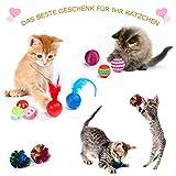 AILUKI 26 Stück Katzenspielzeug Set mit Katzentunnel Katzen Spielzeug Variety Pack für Kitty - 7