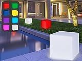Bonetti LED Solar Würfelleuchte mit Farbwechsel 30 cm IP67 RGB