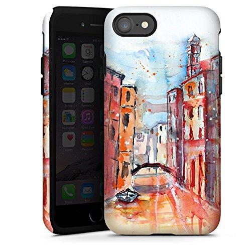 Apple iPhone X Silikon Hülle Case Schutzhülle Venice Venedig Gemälde Tough Case glänzend