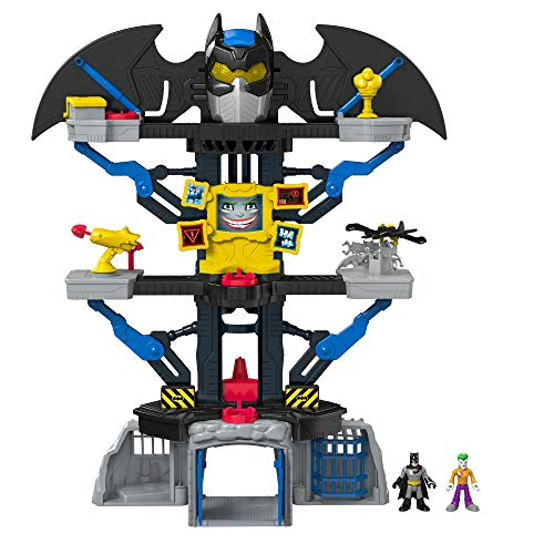 Fisher-Price Bat Cave Transformable Super Friends Jouet, CHH91, Multicolore