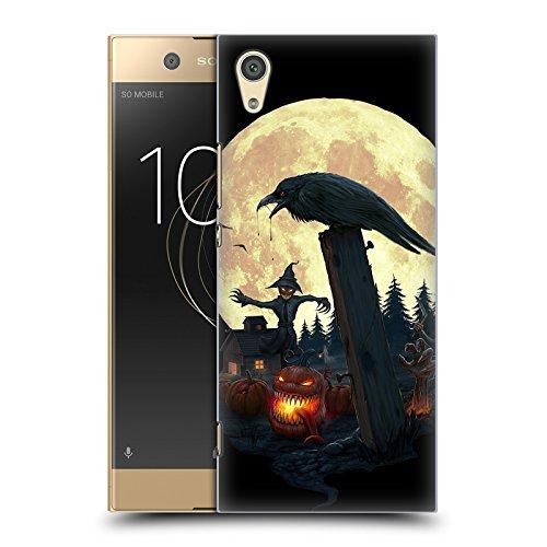Karapanos Halloween Thema Horror 2 Ruckseite Hülle für Sony Xperia XA1 / Dual (Halloween-horror-thema)