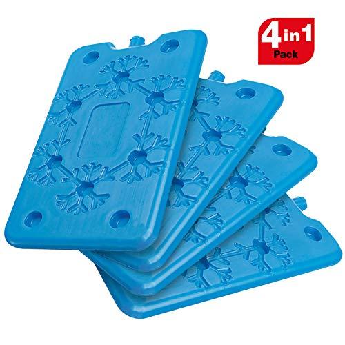 Spice set 4 mattonelle slim ghiaccio refrigerante da freezer ice gr 400 ideale per viaggi vacanze pic-nic. dimensione 25 cm x 14 cm x 1.5 cm, blu, x4