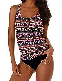 SHOBDW Damen Plus Größe Drucken Tankini Bikini Bademode Badeanzug Beachwear  Baden Badeanzüge ... ea8edbda38