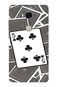 AMAN Pack of 5Clubs 3D Back Cover for Honor 5X