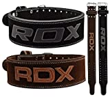 RDX Powerlifting Gewichthebergürtel Rindsleder Bodybuilding Crossfit Fitness Trainingsgürtel Gym Weightlifting Belt Krafttraining
