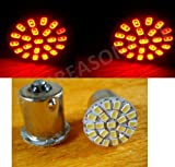#4: Leebo 2X 22-SMD LED Turn Indicator Signal Lamp Bulb (Red) For Royal Enfield Classic 350